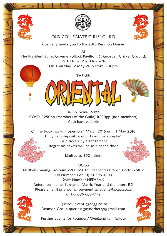 OCGG Oriental Invite